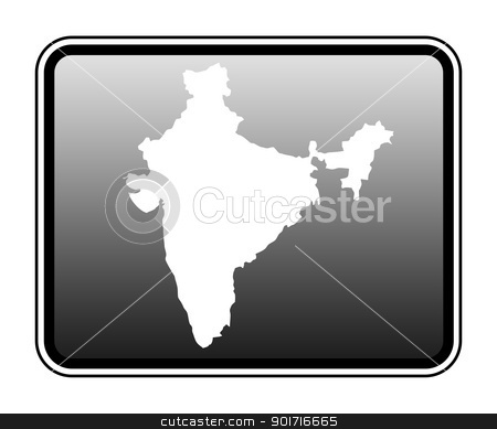 India map on computer tablet stock photo, India map on modern computer tablet, isolated on white background. by Martin Crowdy