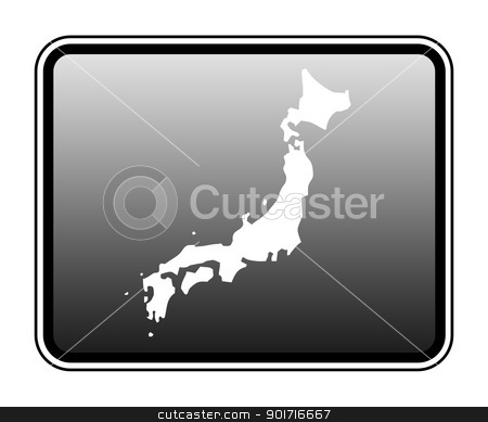 Japan map on computer tablet stock photo, Japan map on modern computer tablet, isolated on white background. by Martin Crowdy