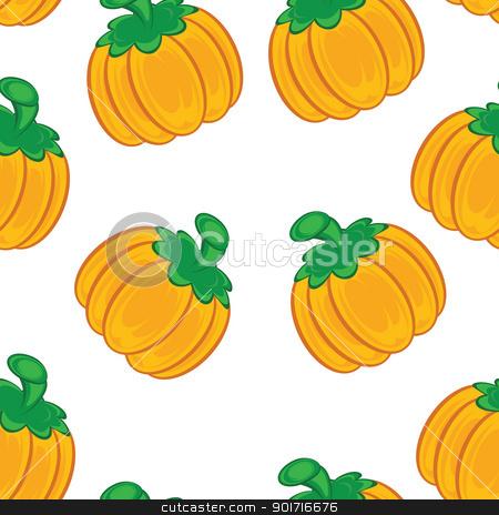 Seamless texture stock photo, Seamless texture of an orange pumpkin. Illustration on white background  by dvarg