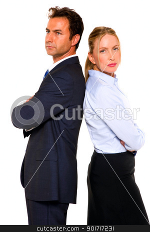 businessman and businesswoman stock photo, businessman and businesswoman by ambrophoto