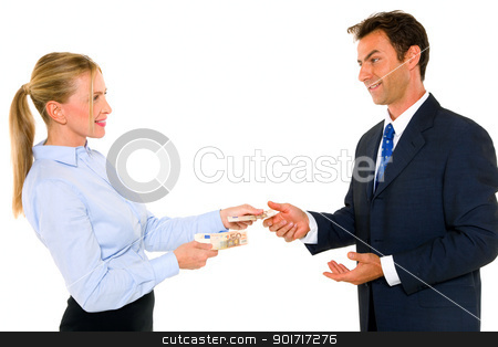 businessman and businesswoman stock photo, businessman and businesswoman by ambrophoto
