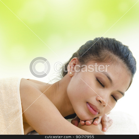 Beauty and Spa stock photo, Asian Girl having a massage by szefei