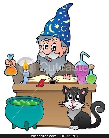Alchemist theme image 1 stock vector clipart, Alchemist theme image 1 - vector illustration. by Klara Viskova