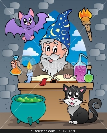 Alchemist theme image 2 stock vector clipart, Alchemist theme image 2 - vector illustration. by Klara Viskova