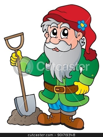Cartoon garden dwarf stock vector clipart, Cartoon garden dwarf - vector illustration. by Klara Viskova