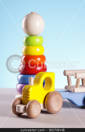Baby toys! stock photo, Baby toys closeup on table by fikmik