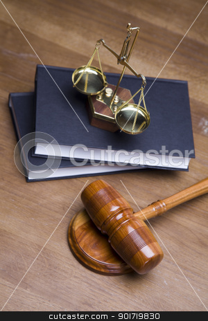 Law concept stock photo, Law, scales of justice! by fikmik