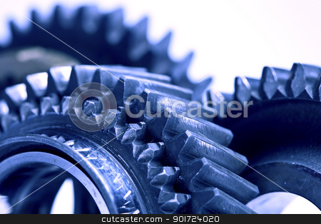 Colorful gears stock photo, Colorful gears by fikmik