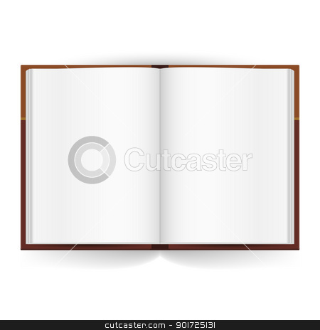 Open book stock photo, Cool Open book with white pages. Illustration on white by dvarg