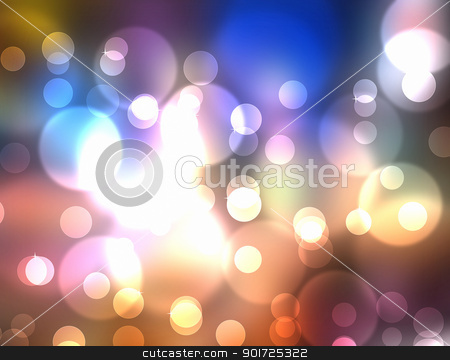 Multi Colored Light Burst stock photo, colorful flow like abstract image with bokeh by manaemedia
