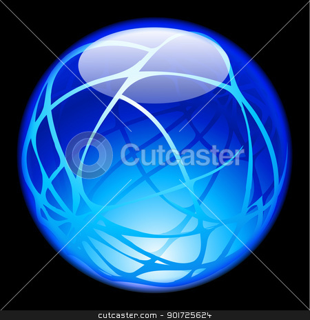 Glass Sphere stock photo, Glass Sphere isolated on black background for design by dvarg