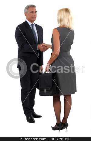 Two businesspeople shaking hands stock photo, Two businesspeople shaking hands by photography33