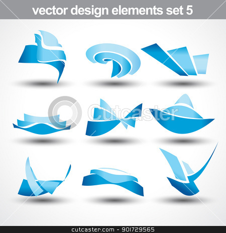 abstract shape vector stock vector clipart, abstract shape vector set 5 by pinnacleanimates