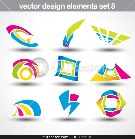 abstract shape vector stock vector clipart, abstract shape vector set 8 by pinnacleanimates