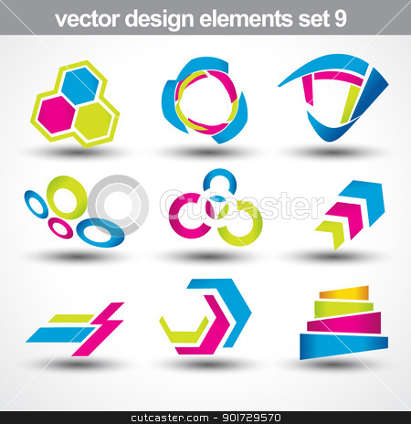 abstract shape vector stock vector clipart, abstract shape vector set 9 by pinnacleanimates