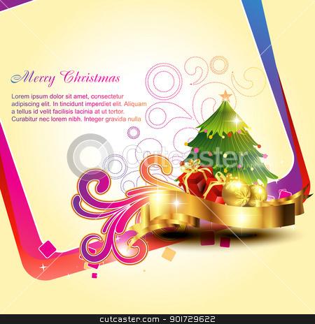 vector christmas bakground stock vector clipart, vector beautiful artistic christmas bakground design illustration by pinnacleanimates