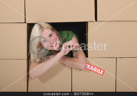 Girl in the middle of moving stock photo, Girl in the middle of moving by photography33