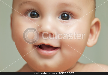 Happy Baby stock photo, Baby laughing by Matthias Krapp