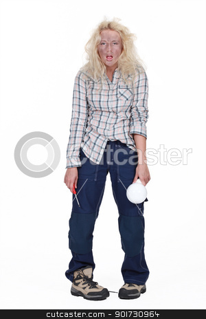 female electrician in all sorts stock photo, female electrician in all sorts by photography33
