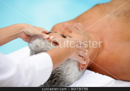 A man getting a massage stock photo, A man getting a massage by photography33