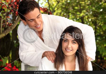 Man massaging woman stock photo, Man massaging woman by photography33