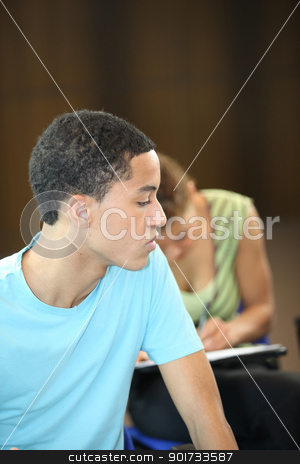 Students in examination stock photo, Students in examination by photography33