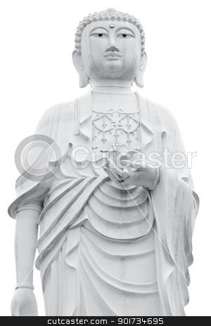 Buddha stock photo, Giant Buddha statue isolated on white background by szefei