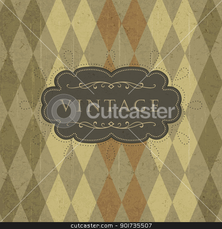 Abstract retro card with space for text. stock vector clipart,  by pashabo