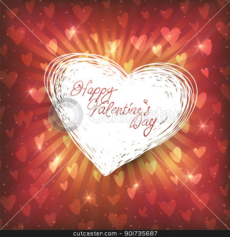 Happy Valentines day stock vector clipart, Happy Valentines day, vector illustration by pashabo