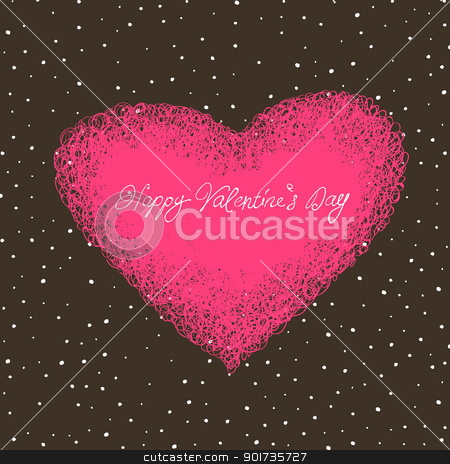 Valentine`s card with space for text. stock vector clipart, Valentine`s card with space for text. by pashabo