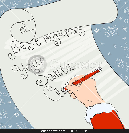 Santa greeting signs. Vector, Eps8 stock vector clipart, Santa greeting signs. Vector, Eps8 by pashabo