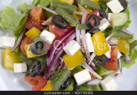 Salad stock photo, Fresh Vegetables, Fruits and other foodstuffs. by Yury Ponomarev
