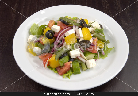 salad stock photo, Wealth of vegetables on the plate by Yury Ponomarev