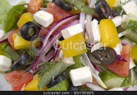 close-up of salad stock photo, Fresh Vegetables, Fruits and other foodstuffs. by Yury Ponomarev