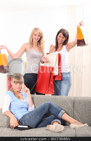 We went shopping! stock photo, We went shopping! by photography33