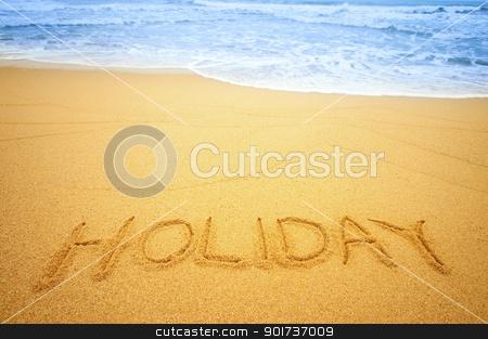 Holiday on the beach stock photo,