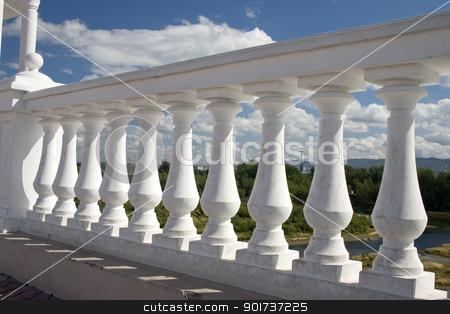 Balustrade. stock photo, Balustrade of a new house. by Yury Ponomarev