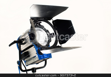 Searchlight. stock photo, Searchlight on a white background. by Yury Ponomarev