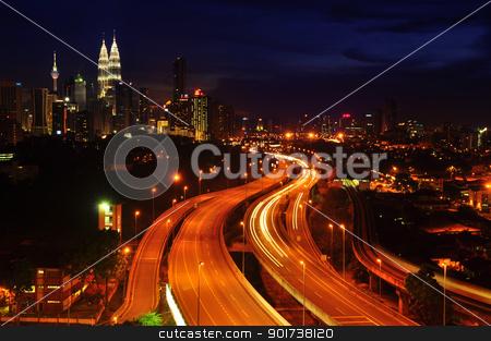Kuala Lumpur night view stock photo, Kuala Lumpur is the capital city of Malaysia. by szefei