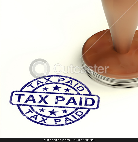 Tax Paid Stamp Showing Excise Or Duty Paid stock photo, Tax Paid Stamp Shows Excise Or Duty Paid by stuartmiles