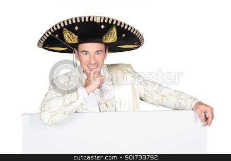 portrait of a man with sombrero stock photo, portrait of a man with sombrero by photography33