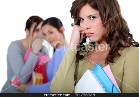 student rejected from her friends stock photo, student rejected from her friends by photography33