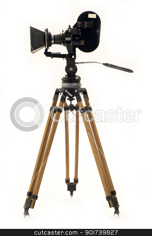 The movie camera and tripod. stock photo, Professional 35 the movie camera and tripod. by Yury Ponomarev