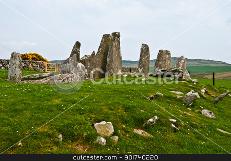 Cairnholy Stones stock photo, ancient chambered tomb called Cairnholy Stones in Scotland by Juliane Jacobs