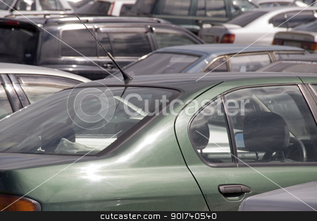 Auto parking. stock photo, Congestion of automobiles. by Yury Ponomarev