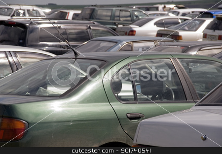 Parking place. stock photo, It is a lot of automobiles. by Yury Ponomarev