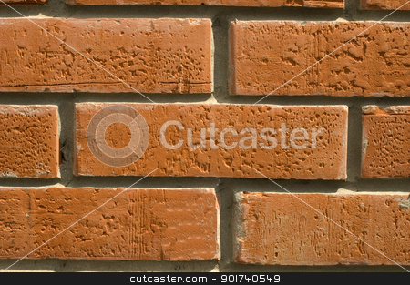 Brick wall. stock photo, Wall  laid out by red bricks. by Yury Ponomarev