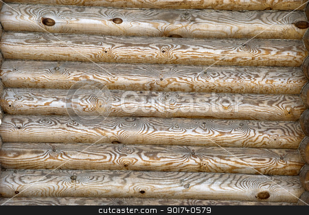 Wooden background. stock photo, Wall of a wooden house. by Yury Ponomarev