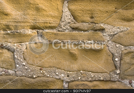 Wall. stock photo, Wall from a grey stone. by Yury Ponomarev