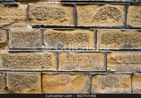 Brick wall. stock photo, Old wall of a yellow brick. by Yury Ponomarev